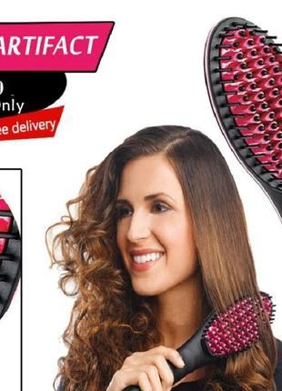 Расческа для выпрямления волос Fast hair HQT-906  Оригинал