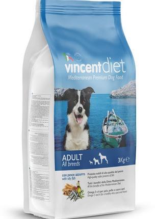 Корм для дорослих собак Vincent ЖИРНА РИБА 15 кг