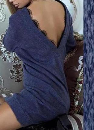Платье-туника с открытой спиной