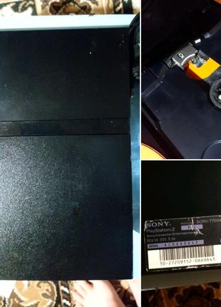 PlayStation 2 slim комплект + 2 джойстика (прошита) рабочая!