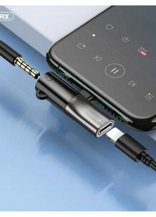 Переходник lightning на 3.5 apple для наушников iPhone адаптер...