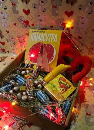Подарок бокс 18+ до дня Святого Валентина