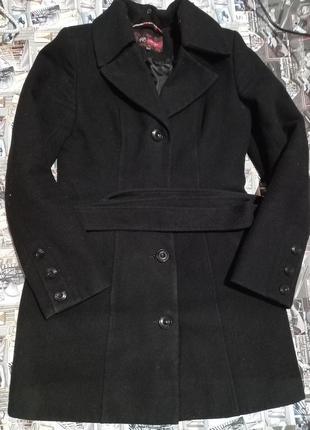 Драповое демисезонное пальто