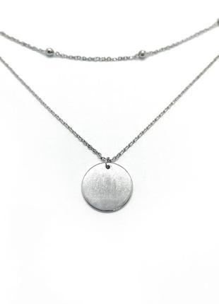 Серебряная цепочка с кулоном новая родий серебро 925 проба под...
