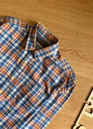 Винтажная рубашка в разноцветную клеточку jack & jones