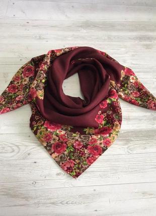 Женский шерстяной платок цветочный рай 1339,5