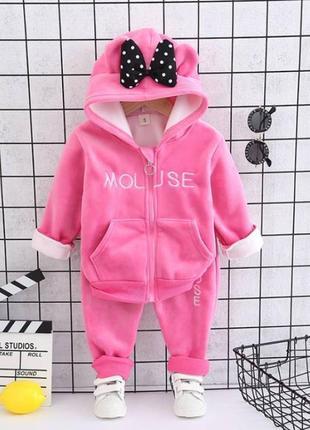 Утепленный костюм для девочки mouse