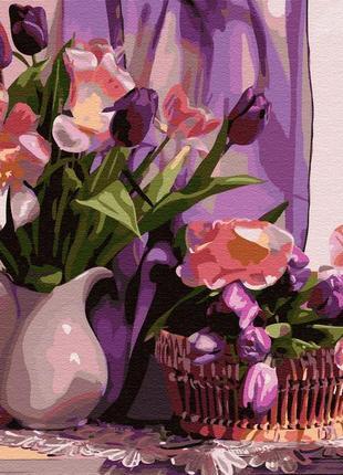 Набор для создания картины по номерам цветы