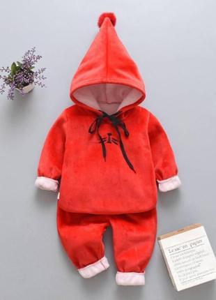 Теплый костюм красный