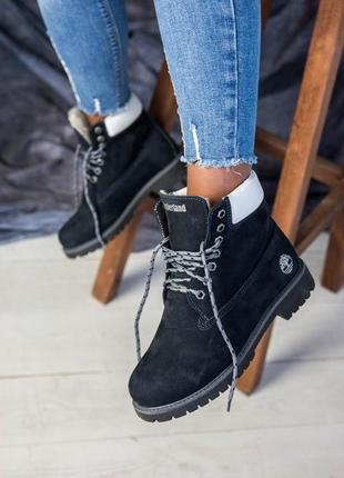 Модные теплые натуральные зимние ботинки