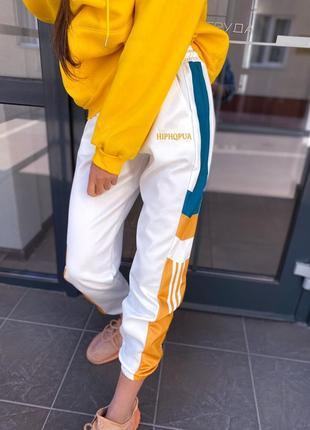 Спортивные штаны с яркими широкими полосками🌷