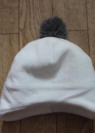Теплая шапочка на 0-6мес.