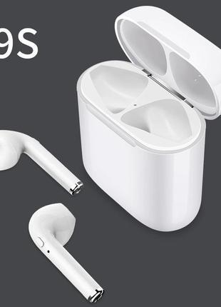 Беспроводные наушники Pods блютуз Buds i9S-TWS Bluetooth 5.0!