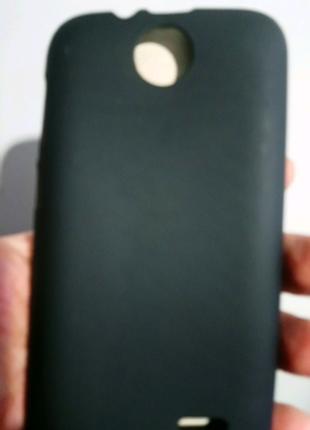 Чехол-бампер силиконовый чёрный htc desire 310
