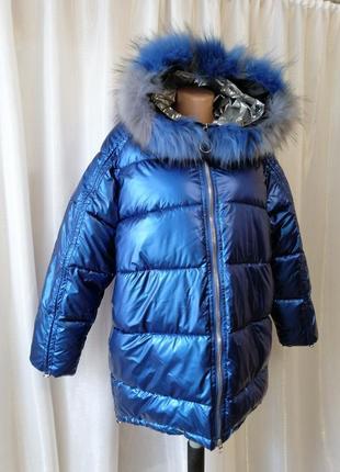 Зимняя куртка с капюшоном мех