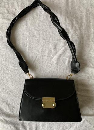 Сумка маленька, сумка чорна, трендова сумка.