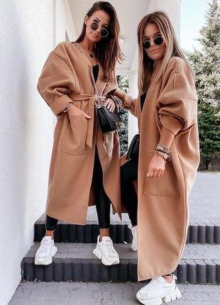 Пальто кашемировое оверсайз