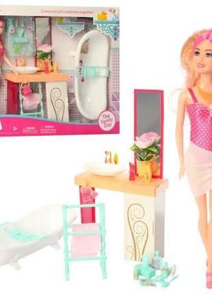 Лялька з набором Ванна кімната JX 200-54