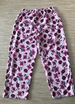 Одежда для дома. флисовые штаны, размер xl, реально 56-58-60