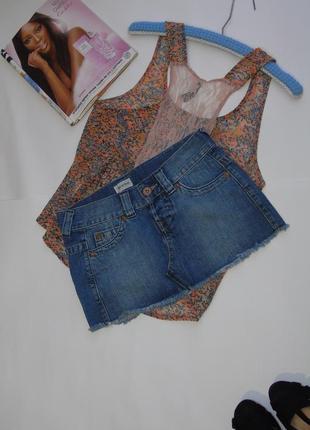 Джинсовая юбка 8 размера