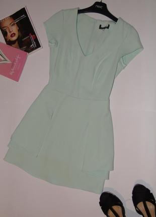 Мятное маленькое платье