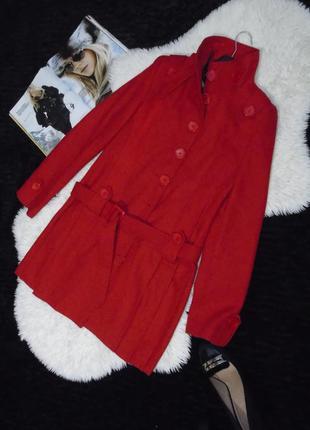 Красное пальто от boohoo