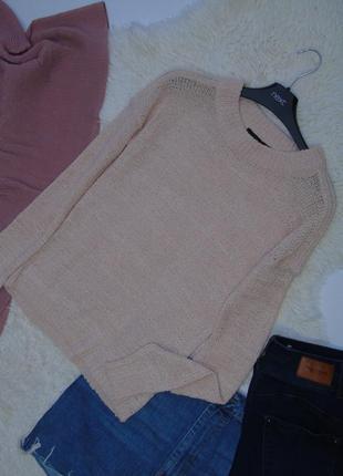 Нежный пудровый свитер