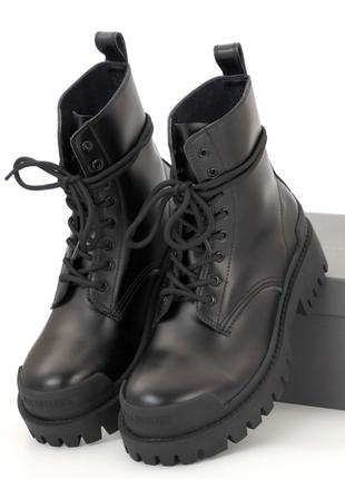 Демісезонні жіночі черевики balеnciaga strike (36-40)