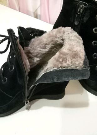 Ботинки зима из  замши