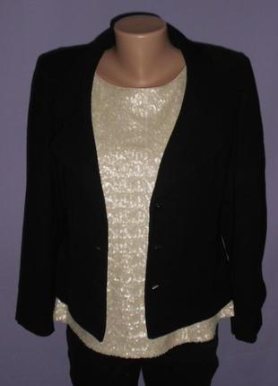 Классический  черный пиджак minuet