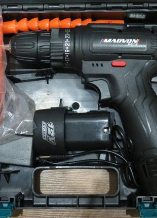 Акумуляторний шуруповерт 12в MAOVON з насадками