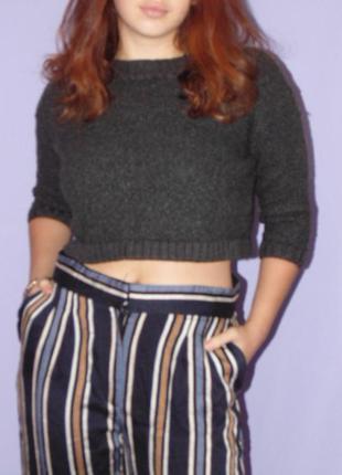 Укороченный свитер/80% шерсть/lamberto losani
