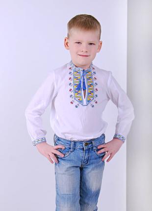 Вишиванка для хлопчика Гетьман (батист білий)
