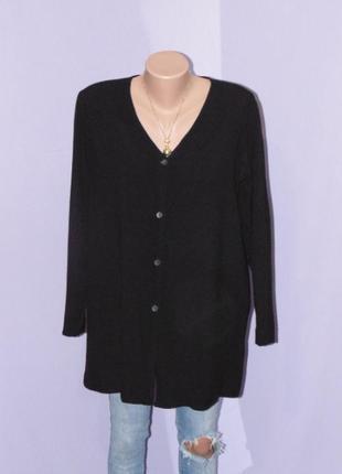 Черная вискозная рубашка/размер м