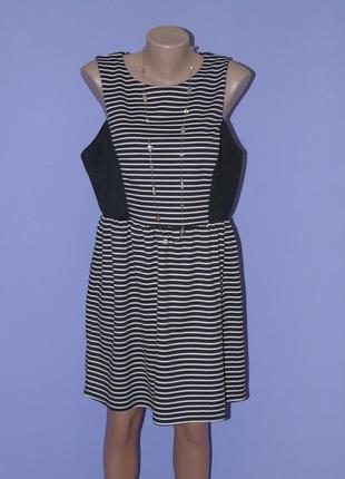 Платье в полоску 18 размера