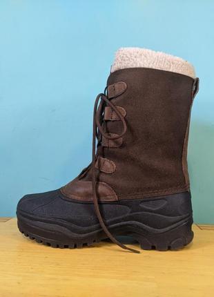 Термоботинки сапоги кожаные резиновые снегоходы