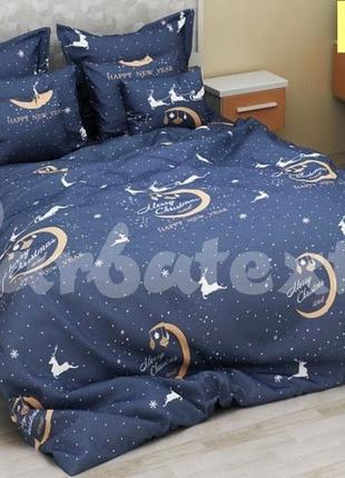 Комплект постельного белья рождество ( двуспальный, евро)