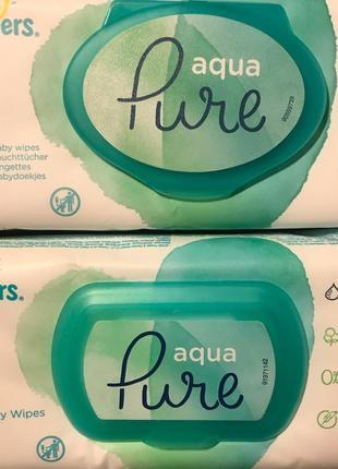 Салфетки влажные детские Pampers Pure с клапаном 48шт.