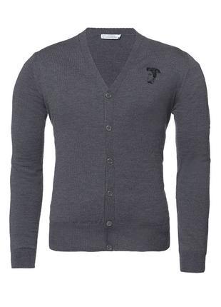 Мужской свитер кардиган Versace XL оригинал 100 процентная шерсть