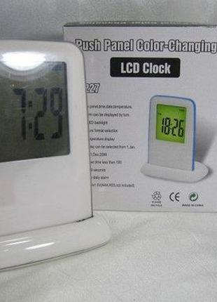 Часы будильник LCD Color Clock 1227