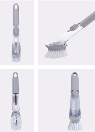Щётка для мытья посуды с дозатором 580