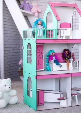Кукольный домик для барби,дом для кукол лол omg