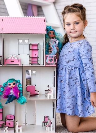 Красивый деревянный кукольный домик для лол,ляльковый будинок ...