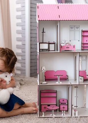 Подарок каждому!Деревянный кукольный домик для лол,домик для к...