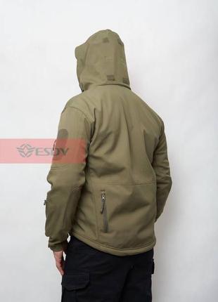 Куртка тактическая SoftShell Shark Skin 01. ESDY. Олива (JA01)