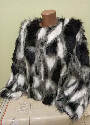 Женская меховая куртка полушубок короткая шуба Жіноча шубка