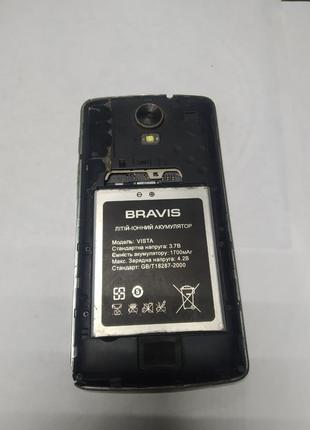 Телефон  Bravis Vista на запчасти аккумулятор + плата + корпус +