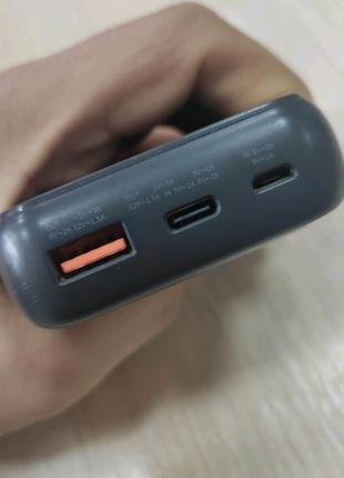 power bank, повер, зарядное, ROCK, 10000мАч, USB C, PD, QC, 18Вт