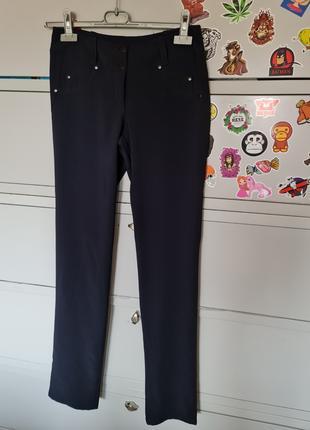 Новые темно-синие прямые брюки
