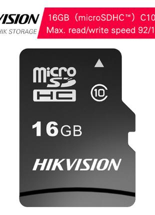 HIKVISION micro SD HC карта памяти 16GB Class 10 92 МБ/с original